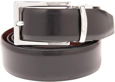 Leather Plus Men Formal Black Reversible Belt