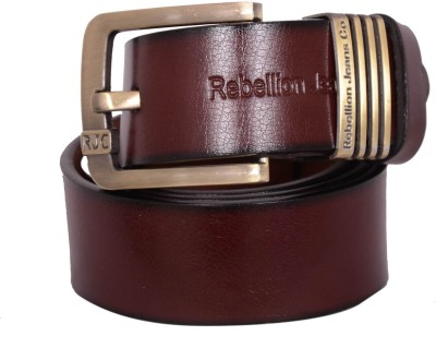 Rebellion Men Brown Genuine Leather Belt