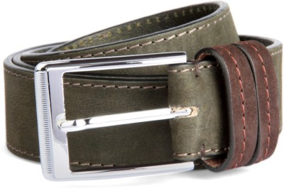 Louis Philippe Men Green Genuine Leather Belt