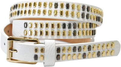 Hadwin Girls Party White Artificial Leather Belt