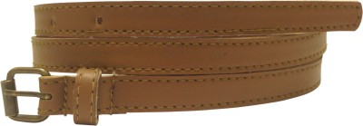Miss Chase Women Casual Tan Artificial Leather Belt