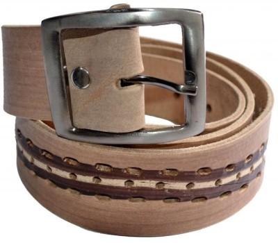 Cuero Men Casual, Formal Brown, Beige Genuine Leather Belt