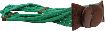 Just Women Girls Casual Green Artificial Leather Belt