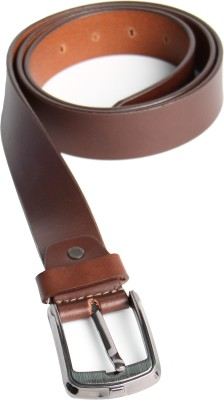SKSS Club Men Formal Tan Genuine Leather Belt