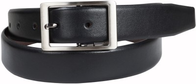 Clubb Men Black Genuine Leather Belt