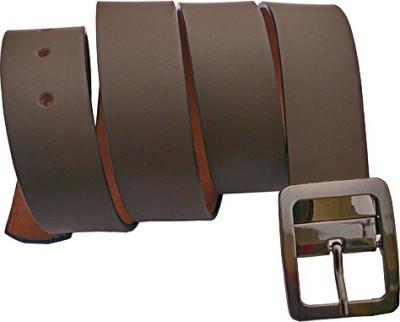 Generic Men Semi-formal Brown Artificial Leather Belt