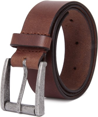 NEUBUCK Men Tan Genuine Leather Belt