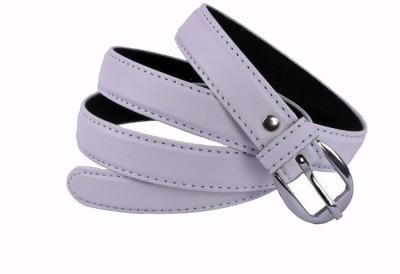 Modishera Women, Girls White Artificial Leather Belt