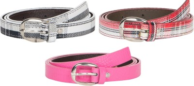 Mdr Collections Girls Formal Black, Pink, Maroon Artificial Leather Belt
