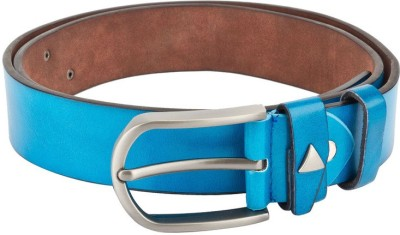 Swiss Design Men Casual Blue Genuine Leather Belt