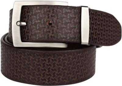 Coudre Men Casual Brown Genuine Leather Belt