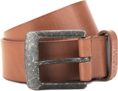 U.S. Polo Assn. Men Tan Genuine Leather Belt