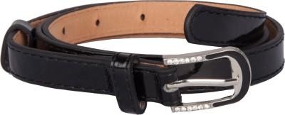 TrendBAE Women Party Black Artificial Leather Belt