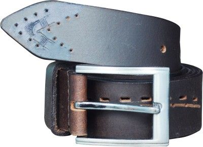 Adhaans Men Casual Brown Genuine Leather Belt