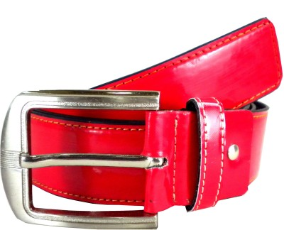 Opaque Men Formal Red Artificial Leather Belt