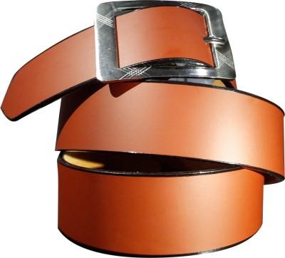 Giffi Men Casual Brown Artificial Leather Belt