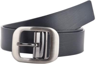 KRG ENTERPRISES Men, Boys Casual, Party, Formal Black Genuine Leather Belt