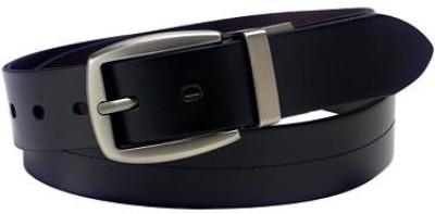 Black Cat Men Formal Black Genuine Leather Belt
