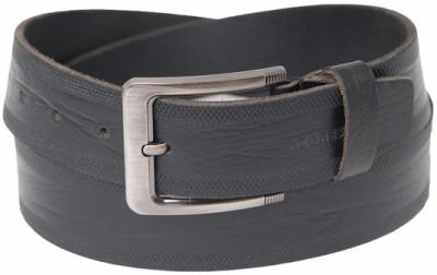 Azores Men Formal Black Genuine Leather Belt