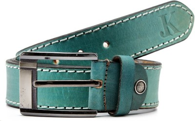 Junckers Men Casual, Evening, Formal, Party Blue Genuine Leather Belt