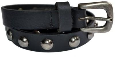 Cuero Girls Casual Black Genuine Leather Belt