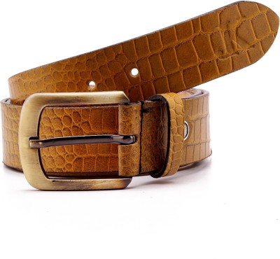 Junckers Men, Boys Casual, Party, Evening Yellow Genuine Leather Belt