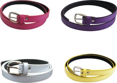 Verceys Girls, Women Casual Pink, Purple, White, Yellow Artificial Leather Belt