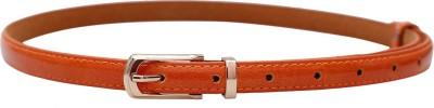 Stylehoops Girls, Women Orange Artificial Leather Belt