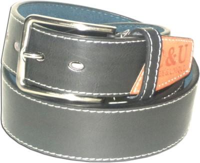 RD Men Black Genuine Leather Belt