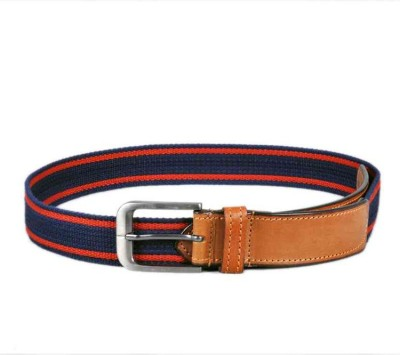Ligans Ny Men Casual Multicolor Genuine Leather, Canvas Belt