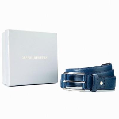 Mane Beretta Men Casual Blue Genuine Leather Belt