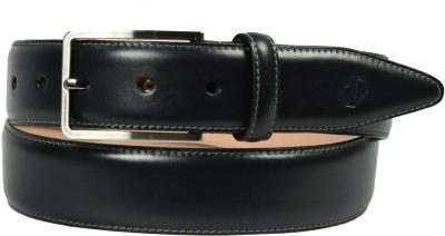 James Aston Men Formal Black Genuine Leather Belt