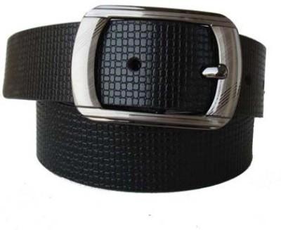 Klaska Men Formal Black Genuine Leather Belt