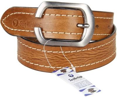 San Vertino Men Beige Genuine Leather Belt