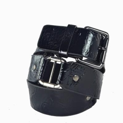 Antiformal Women Casual, Evening, Party Black Genuine Leather, Metal Reversible Belt