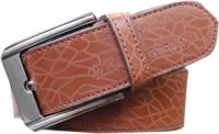Winsome Deal Men Formal, Casual Brown Artificial Leather Belt best price on Flipkart @ Rs. 264