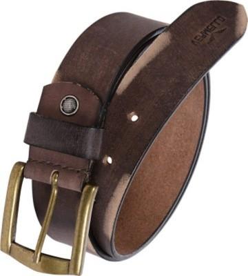 Ruchiworld Men, Boys, Girls Formal Brown Genuine Leather Belt