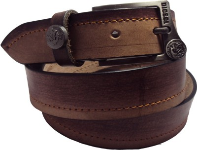 National Leathers Men Casual Brown Genuine Leather Belt