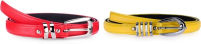 Allura Women Evening, Party, Casual, Formal Yellow, Red Synthetic Belt