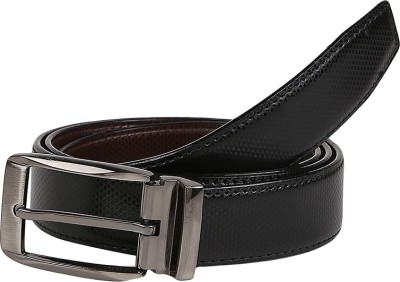 Allura Men Formal Black, Brown Genuine Leather Belt