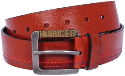 Tommy Hilfiger Men Casual Tan Genuine Leather Belt
