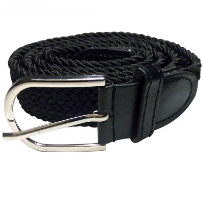 Mount Tradings Girls, Women Casual, Party, Formal, Evening Black Artificial Leather, Synthetic, Fabric, Canvas Belt