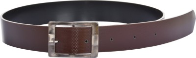 dM Men Casual, Party, Formal, Evening Brown Artificial Leather Reversible Belt