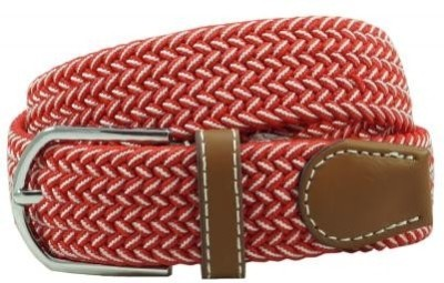 The Tie Hub Men Casual Red Synthetic Belt