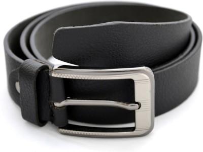 Urban Diseno Men Casual Black Genuine Leather Belt