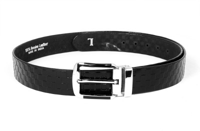 Ligans Ny Men Formal, Casual Black Genuine Leather Belt
