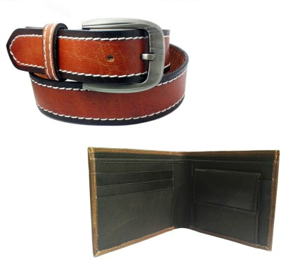 Sanshul Men Casual Tan Genuine Leather Belt