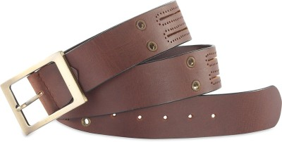 Hide & Sleek Men Casual Brown Genuine Leather Belt
