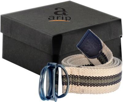 ARIP Boys, Girls, Men, Women Formal Beige Canvas Belt