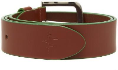 Breakbounce Men Casual Tan Genuine Leather Belt